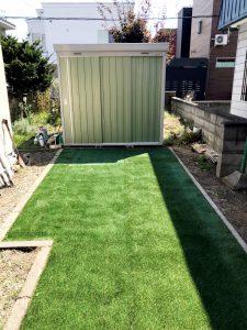 2021年9月施工 札幌市北区 Y様邸 外構工事(人工芝の敷設)-施工後2