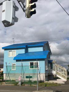 2021年9月施工 当別町 Y様邸 屋根鈑金葺替工事 施工前前-2