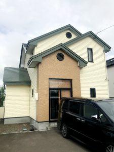 2021年9月施工 当別町 T様邸 屋根鈑金及び外壁塗装工事-施工前