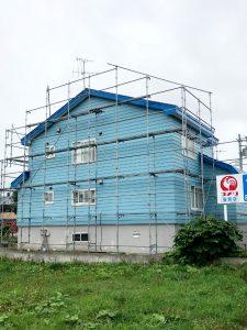 2021年9月施工 当別町 Y様邸 屋根鈑金葺替工事 施工前前-3