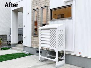 2021年設置 札幌市北区 S様邸 室外機カバー「ヴェルアート」-設置後