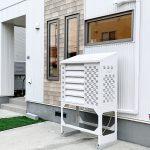 2021年10月設置 札幌市北区 S様邸 室外機カバー「ヴェルアート」設置後-3