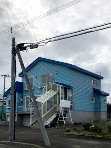 2021年9月施工 当別町 Y様邸 屋根鈑金葺替工事 施工前前-1
